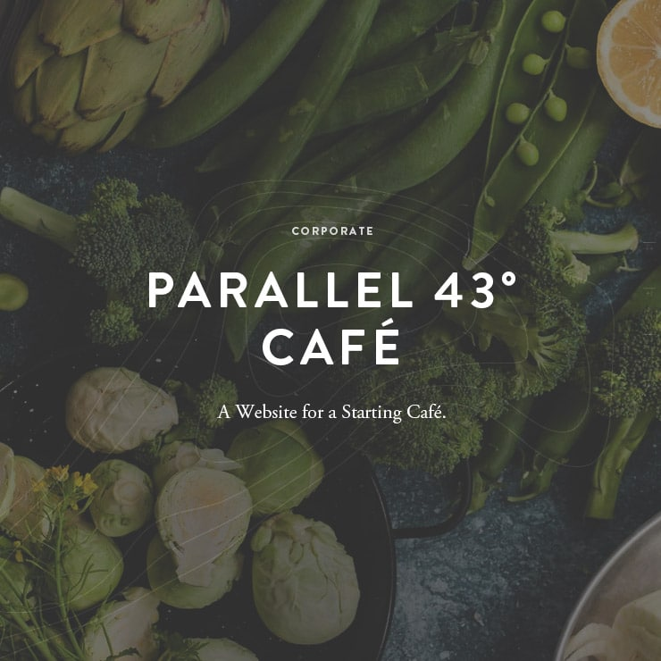 Café Parallel 43° Website